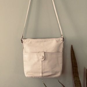 Vintage Toni Genuine Leather Cream Crossbody Bag